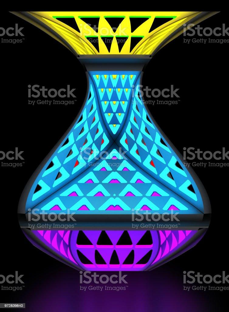 Lámpara de noche económica multifuncional. Sistema modular de la transformación. Ilustración 3D. - ilustración de arte vectorial