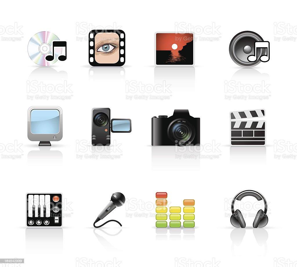 Multimedia Set royalty-free stock vector art