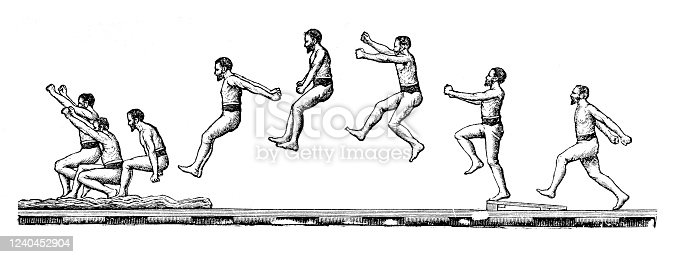 Man jumping in frames Original edition from my own archives Source :