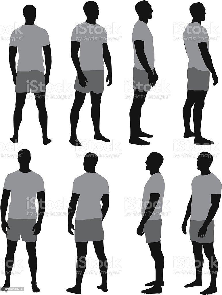 Multiple images of a man vector art illustration