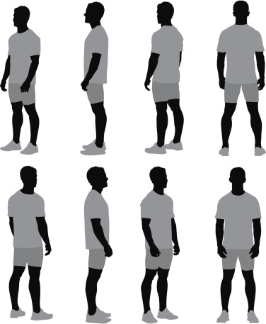 Multiple images of a man standing
