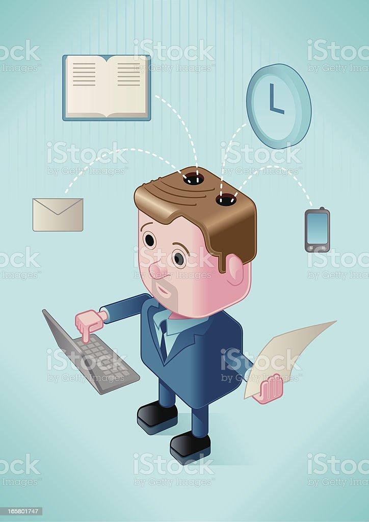 multitasking businessman royalty-free stock vector art