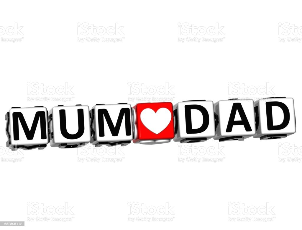 3D Mum Love Dad Button Click Here Block Text royalty-free 3d mum love dad button click here block text stock vector art & more images of abstract