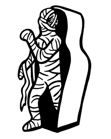 Mummy Leaving Sarcophagus