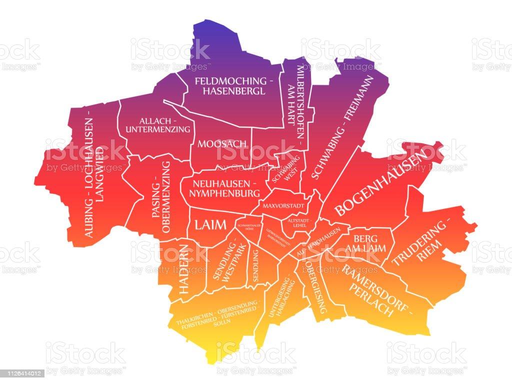 München Karte Deutschland.München Stadt Karte Deutschland De Gekennzeichneten