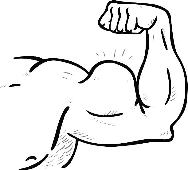 Royalty Free Cartoon Muscle Arms Clip Art Vector Images