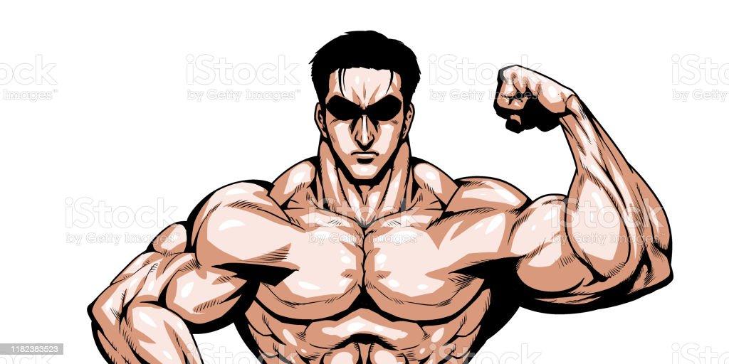 muscle - Royalty-free Adulto Ilustração de stock