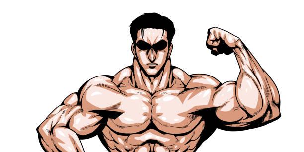 ilustrações de stock, clip art, desenhos animados e ícones de muscle - da cintura para cima