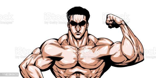 Muscle - Arte vetorial de stock e mais imagens de Adulto