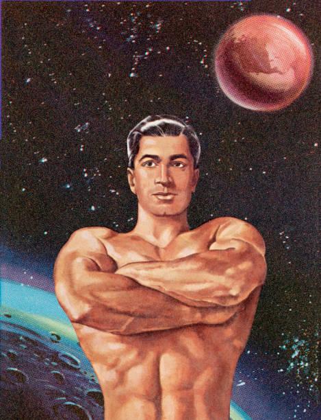 ilustrações de stock, clip art, desenhos animados e ícones de homem músculo - tronco nu