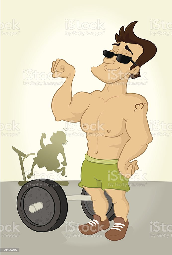 Muscle Power royalty-free stock vector art