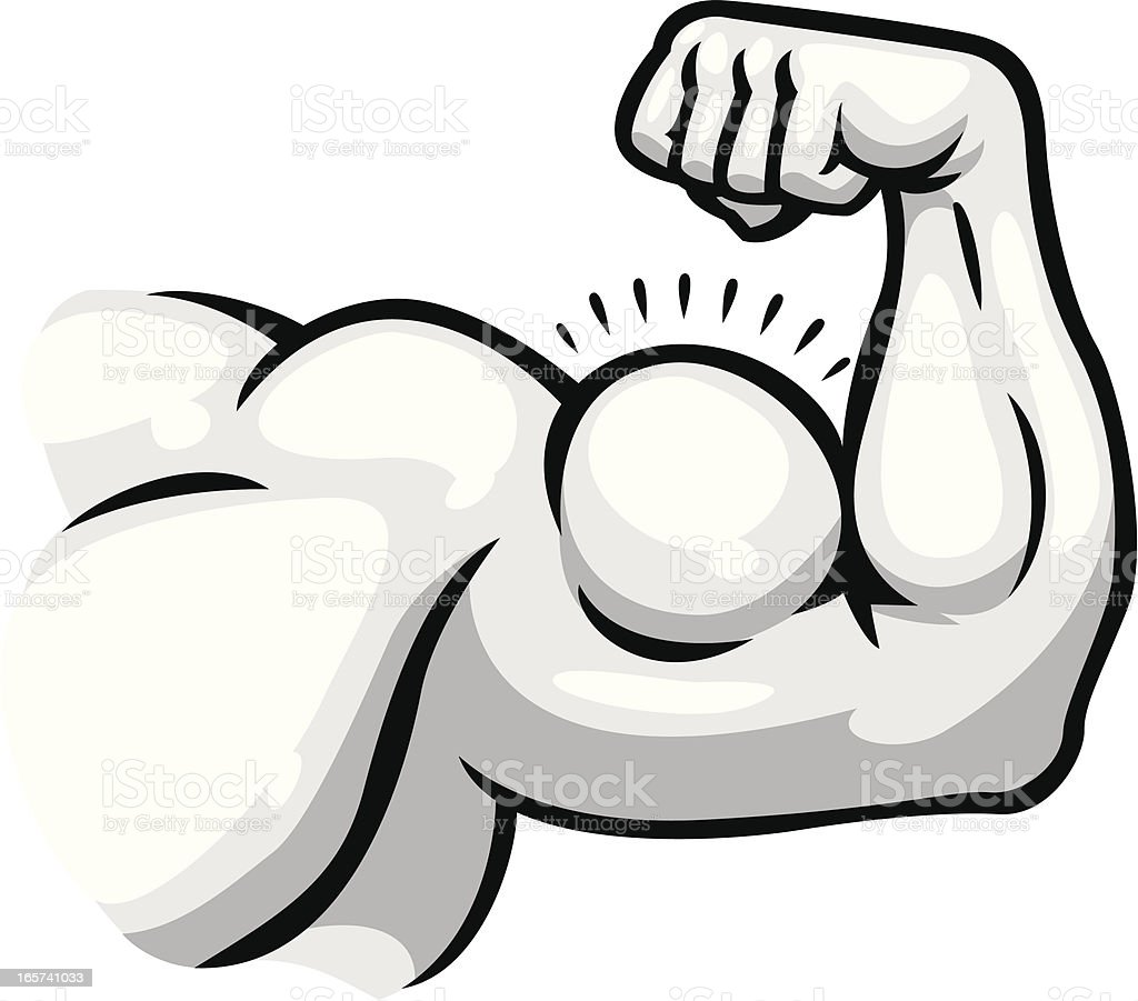 muscular arm vector art illustration