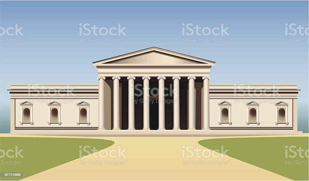 museum building with columns royalty-free stock vector art