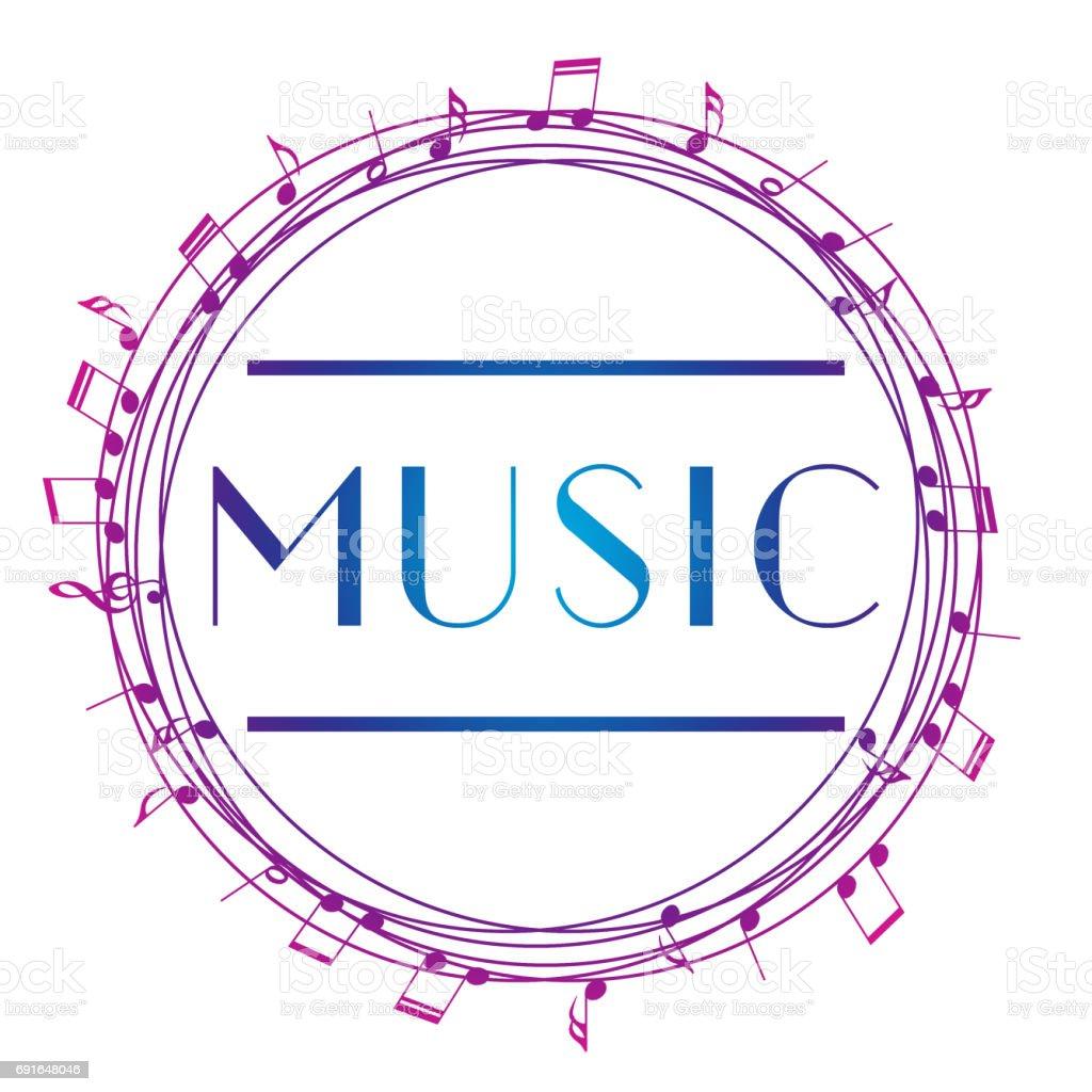 音楽芸術のエンブレムストリート グラフィック スタイルの音楽