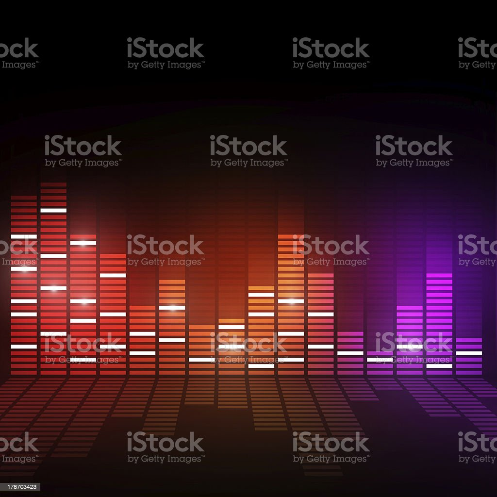 Music Digital Equalizer royalty-free stock vector art