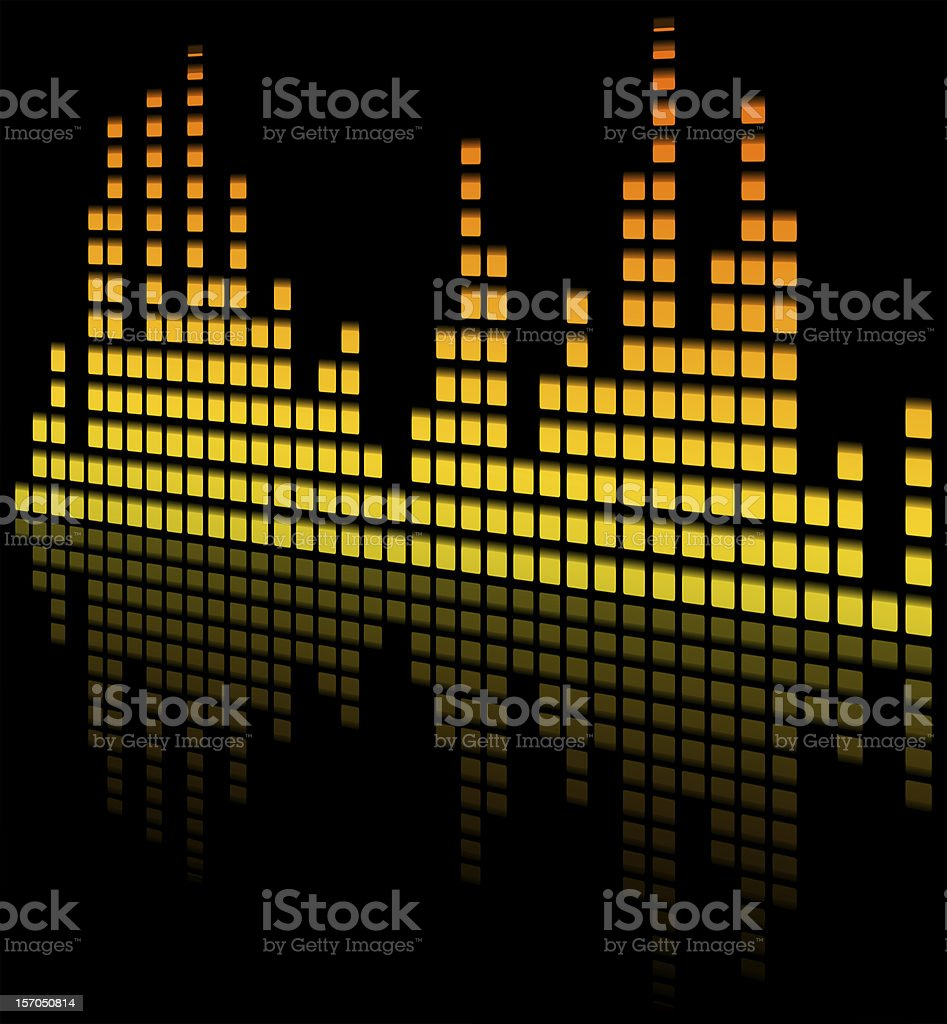 music equaliser blurred - sound mixer royalty-free stock vector art