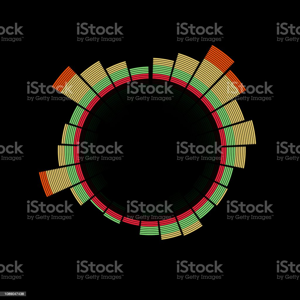 Music Equalizer Audio Waveform Abstract Technology Background Stock