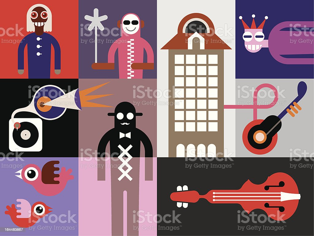 Music Festival Placard royalty-free stock vector art