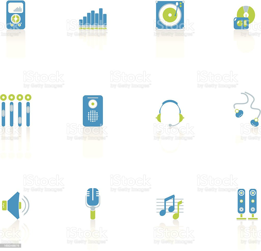 Music Icon Set royalty-free music icon set stock vector art & more images of blue