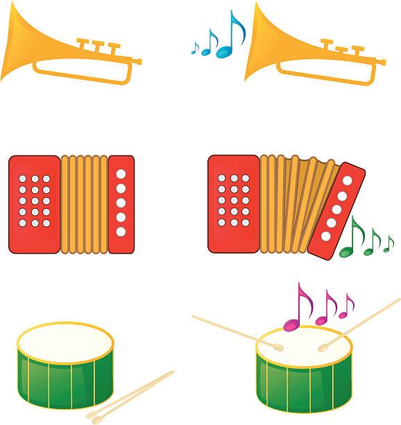 Music instrument icons vector art illustration
