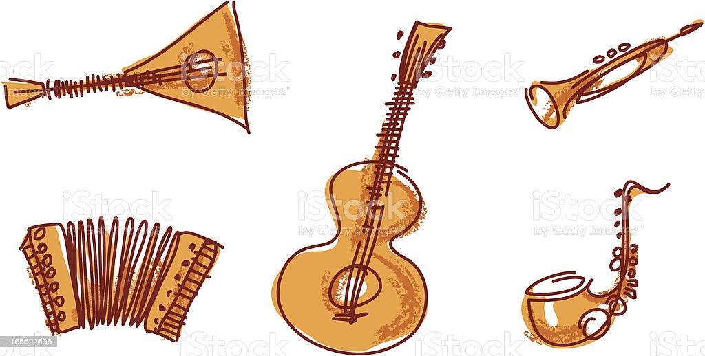 Music Instruments royalty-free stock vector art