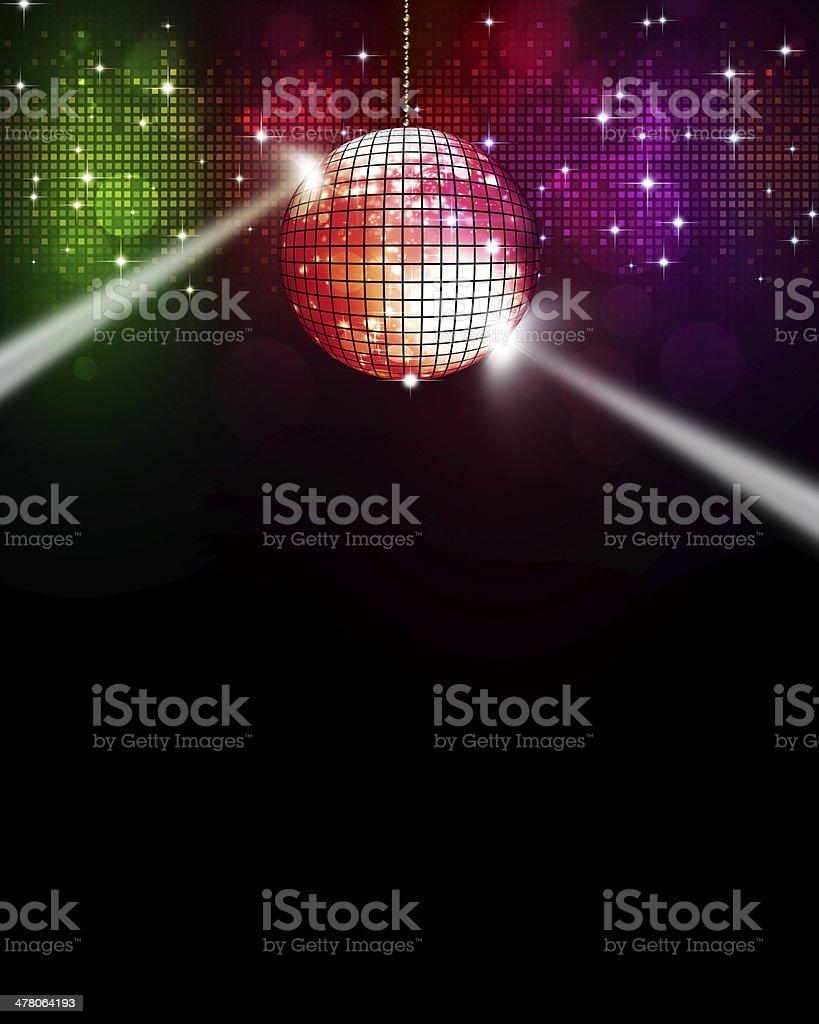 Music Multicolor Disco Background vector art illustration