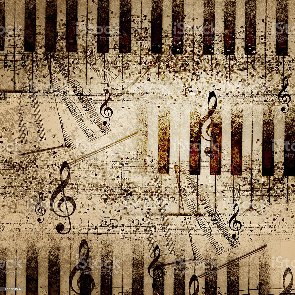 Music notes background royalty-free stock vector art
