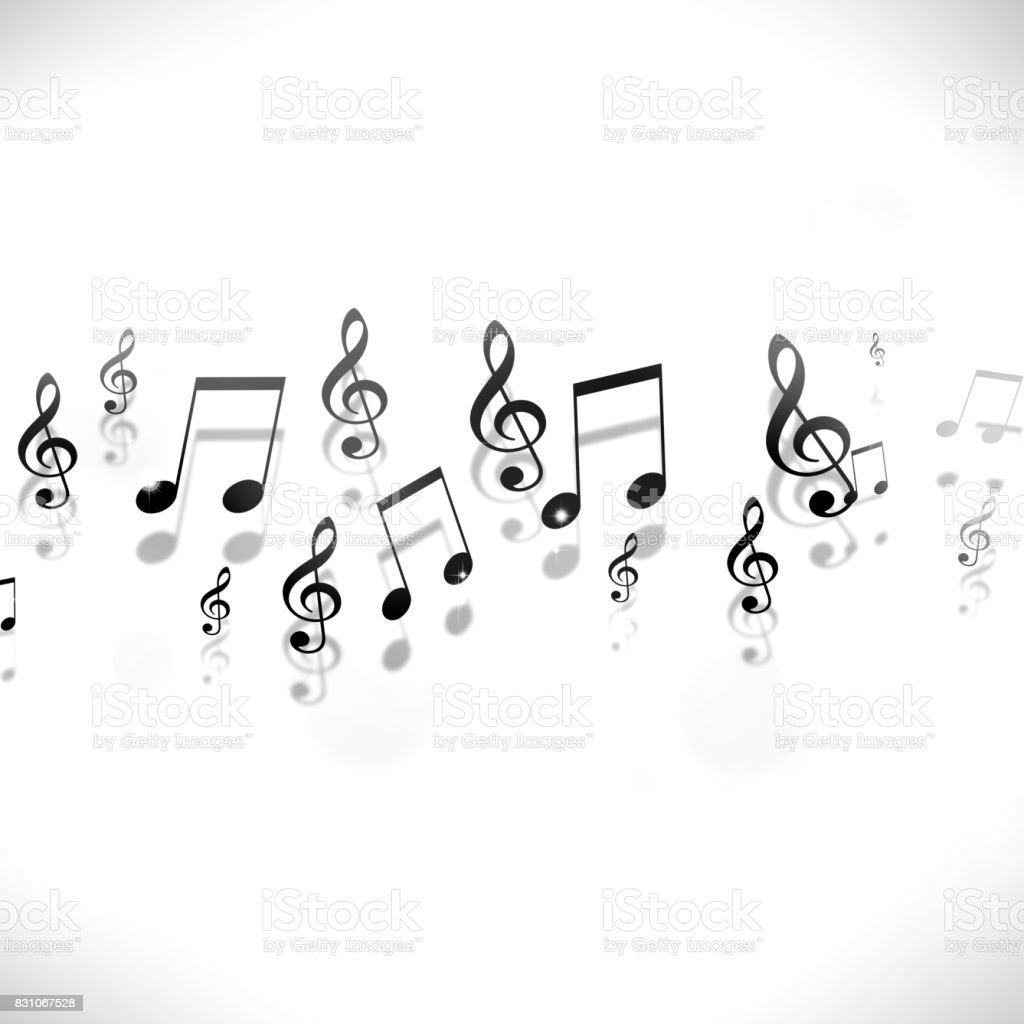 Note De Musique Fond Noir Et Blanc Cliparts Vectoriels Et Plus D