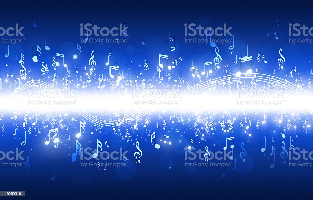 Music Notes Blue Background royalty-free music notes blue background stock vector art & more images of abstract