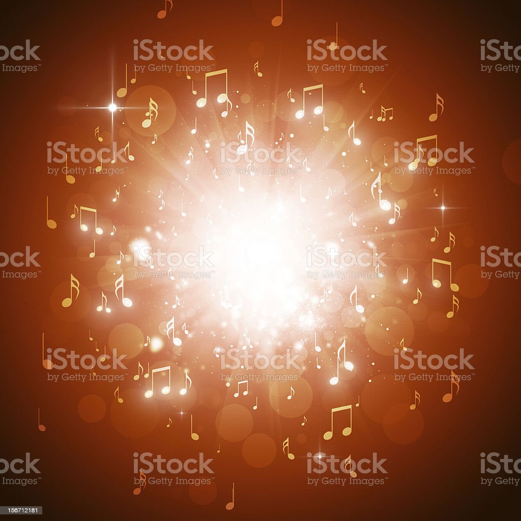 Music Notes Explosion royalty-free stock vector art