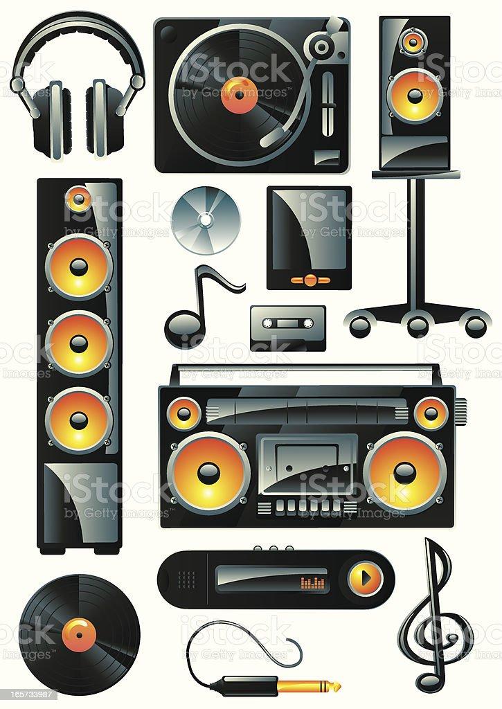 Music stuff royalty-free stock vector art