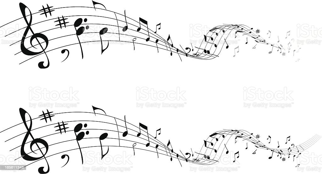 Music that goes royalty-free stock vector art