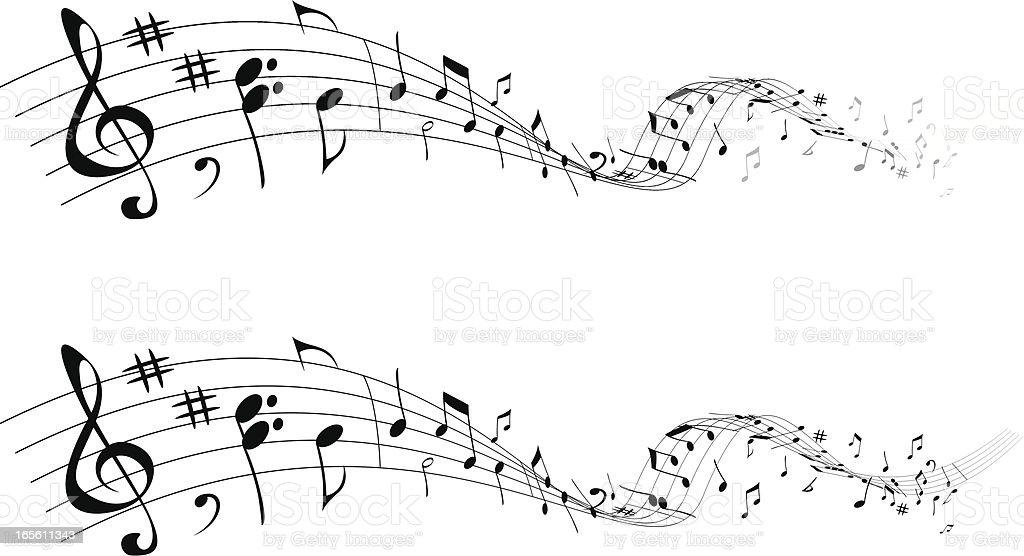 Music that goes vector art illustration