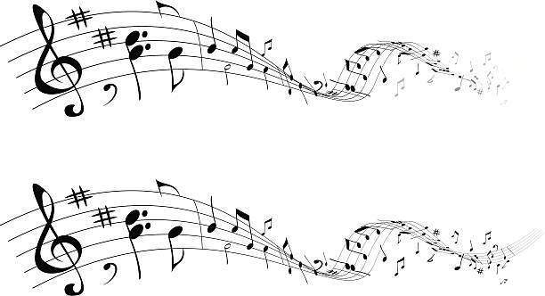 musik, die - musiksymbole stock-grafiken, -clipart, -cartoons und -symbole