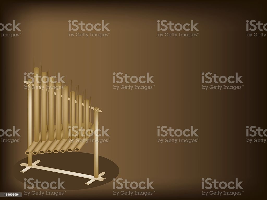 Musical Angklung on Dark Brown Background royalty-free musical angklung on dark brown background stock vector art & more images of asia