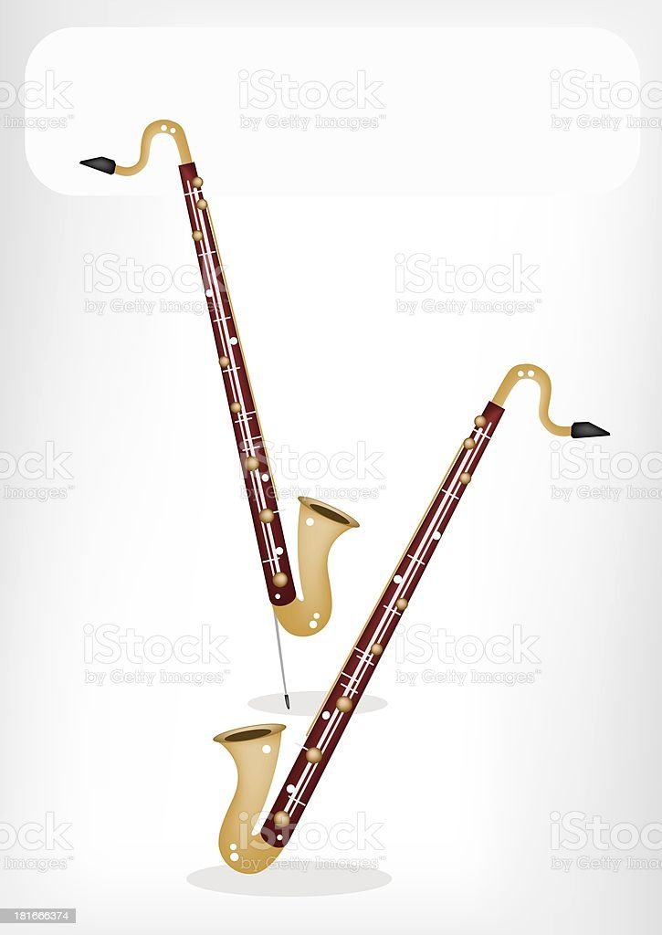 Musical Bass Clarinet with A White Banner royalty-free stock vector art