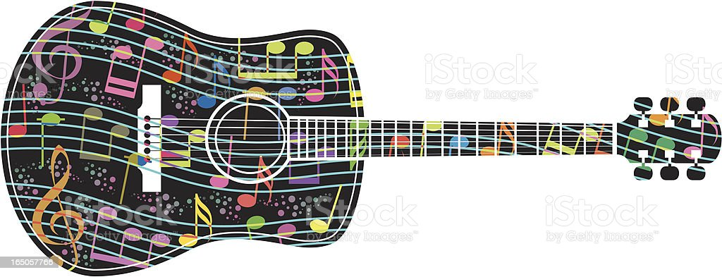 Musical guitar royalty-free stock vector art