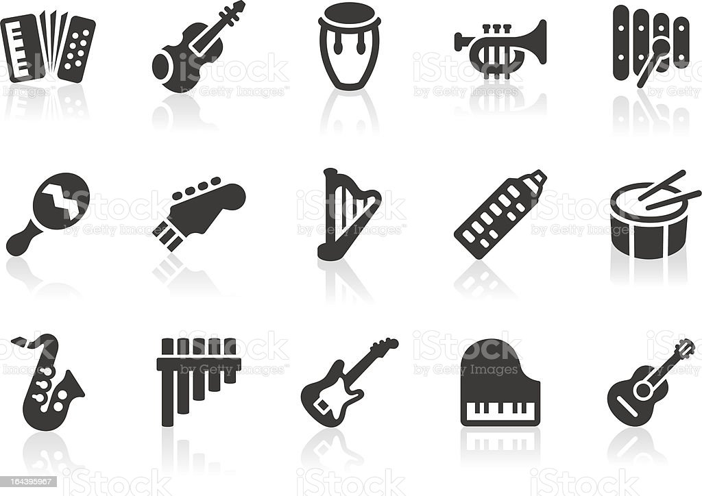 Musical Instrument icons vector art illustration