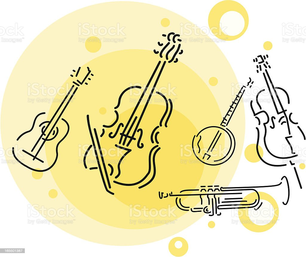 musical instruments royalty-free musical instruments stock vector art & more images of arts culture and entertainment