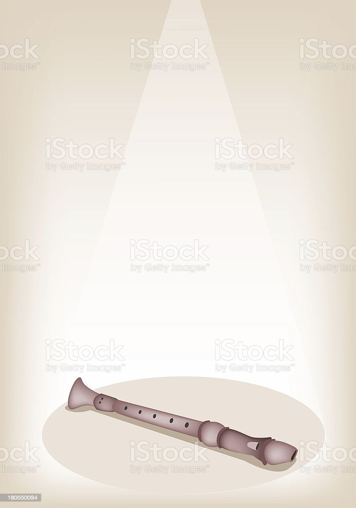 Musical Recorder on Brown Stage Background royalty-free musical recorder on brown stage background stock vector art & more images of artist