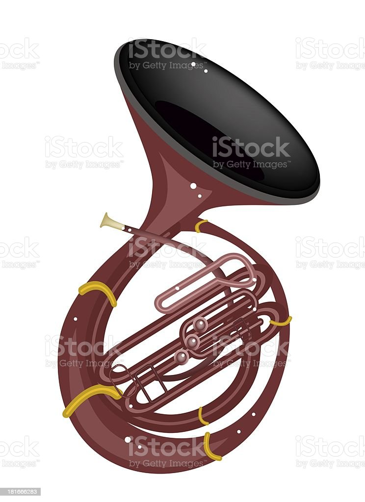 Musical Sousaphone Isolated on White Background royalty-free musical sousaphone isolated on white background stock vector art & more images of arts culture and entertainment