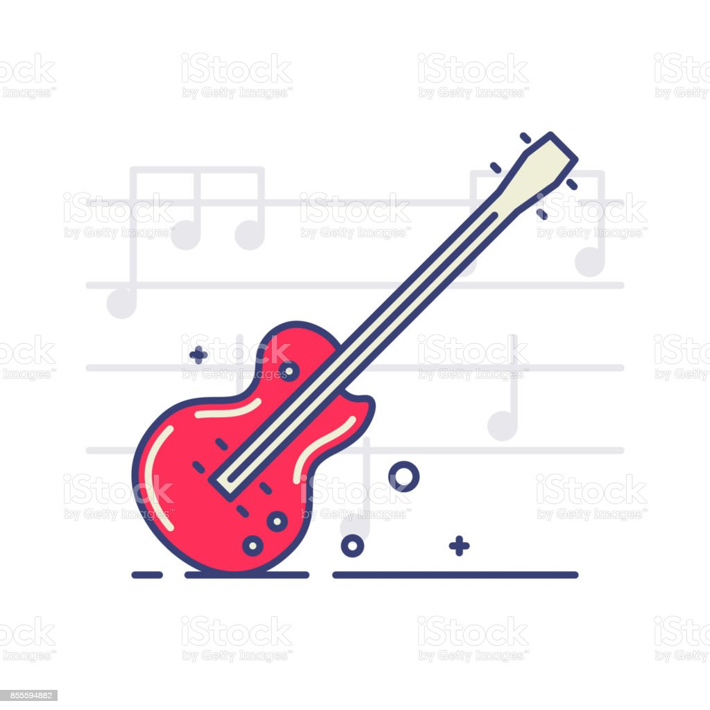 Musical_icons vector art illustration
