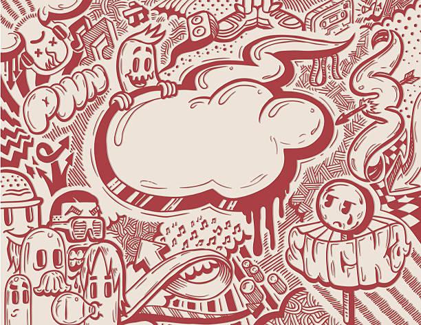 Musicfreaks Dos vector art illustration