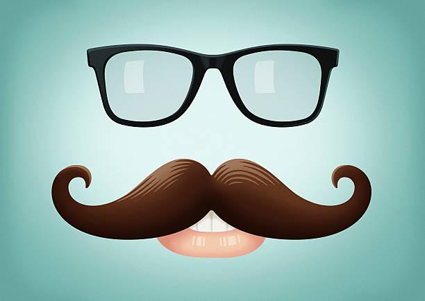 Schnurrbart und Brille – Vektorgrafik