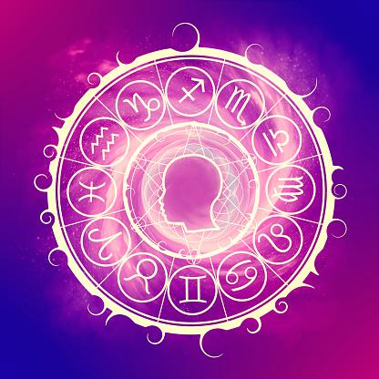 Mystical occult symbol.