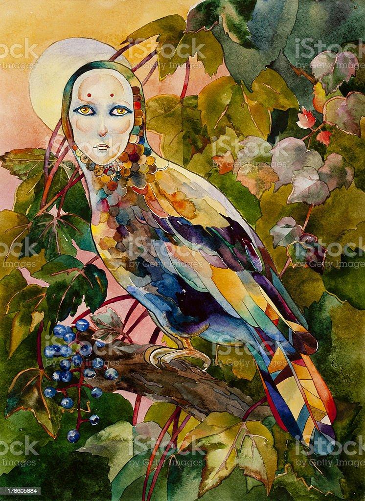 Mythical bird royalty-free stock vector art