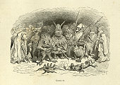 istock Mythical monsters, goblins and beasts. Orlando Furioso 1170480586