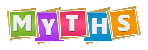 myths colorful blocks - mythology stock illustrations
