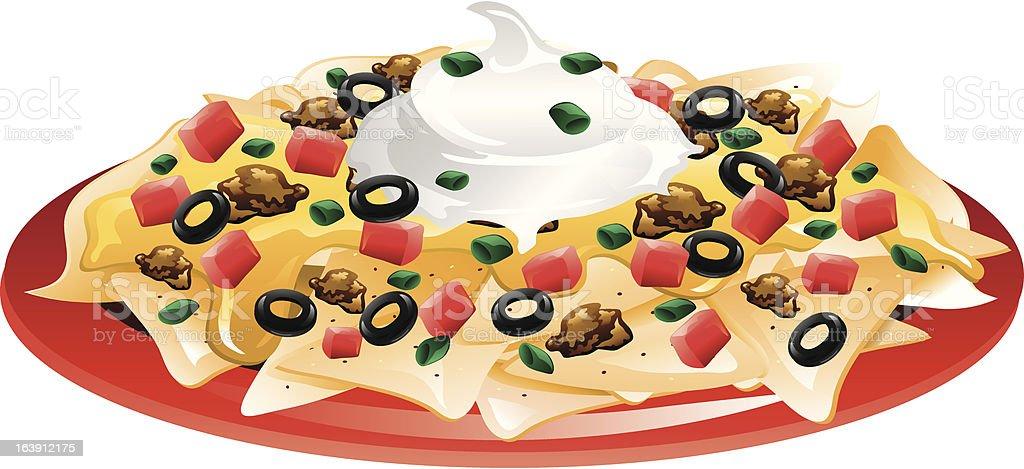 royalty free nacho chips clip art vector images illustrations rh istockphoto com Beef Nachos Clip Art Nachos Clip Art Black and White