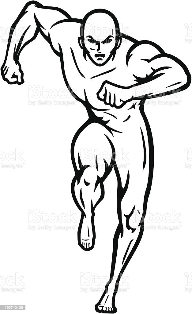 Naked runner royalty-free naked runner stock vector art & more images of adult